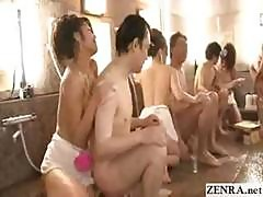 Teen Japan Soapland Girls Have Group Orgy With Cumshot