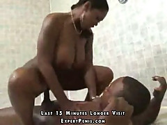 Black babe shower and living room fuck
