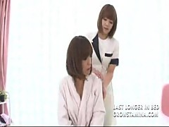 Hot japanese lesbian massage part1