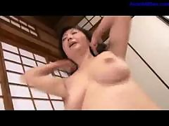 Busty Mature Woman Sucking Young Guy In 69..