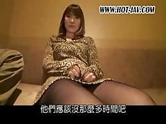 Asian Girl In Nylons Eats Cock And Gets Fingered In Different Shots