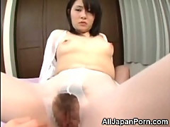 Hairy Asian Teen Sucks Little Dick!