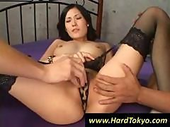 Hottie Asian Tramp Gets The Loving Attention Of Two Young Men