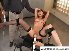 Skinny Japanese Babe Gets Her Sweet Bald Pussy Vibed To Kingdom Come