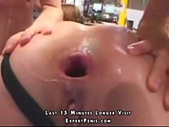 Stuffing two dicks into pornstar Gauge