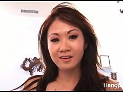 Asian hottie banged by POV