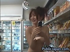 Miku Tanaka Hot Asian doll likes public