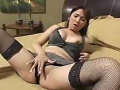 Big tit asian Scarlett Ventura begs for big cock