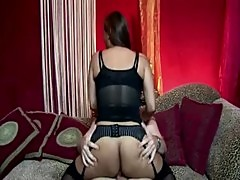 Stockings euro asian gets fucked