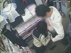 Two Asian Teen Sex Shop Blowjob