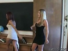 Annie cruz and harmony going back to school threesome