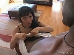 Gorgeous nasty asian lielani loves it big and black