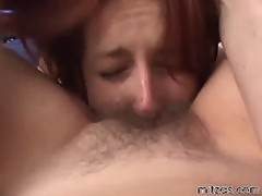 Horny mature bitch waking her young gilfriend