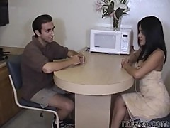 Hot asian hoe Hunny Bunny on the table