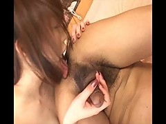 Hot japanese babe sucking baby penis