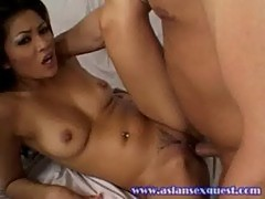 Lovely asian charmane star at asian sex quest