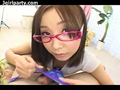 Pink Rimmed Glasses - Japanese Uncensored