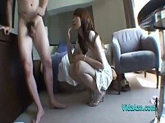 Asian Girl With Big Ass Giving Blowjob Rimming Fucked In Doggy On The Armchair In The Hotel Roo