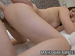 Tight japanese pussy toyed and fucked