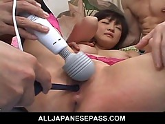 Yukina Ishikawas trimmed pussy is filled with vibrators