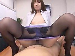 A Creampie For This Asian Secretary