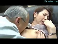 Secretary Getting Her Hairy Pussy Fingered And Licked By Her Old Boss In The Office