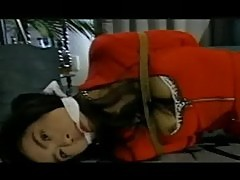 Asian roped in skirt and stockings