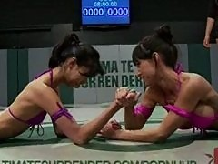 Hot little featherweights fight it out to see who's baddest girl