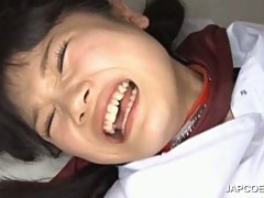 Japanese teen gets mouth jizzed