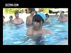 Public orgy in pool