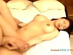Busty Milf Rubbing Guy Cock With Tits Fucked Hard Creampie On The Bed