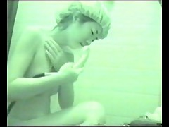 Japanese lady masturbating in tub