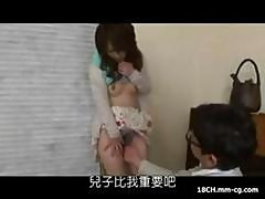 Young Japanese Housewife Gets Horny And Masturbates On The Sofa And Later Fucks Her Husband