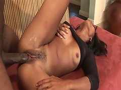 Sexy asian babe arcadia takes on a big black boner in hd