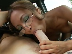 Sweet Asian whore Kina Kai opens her mouth wide for a monster size dick.