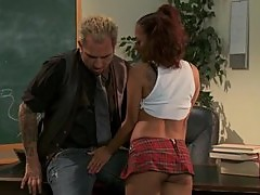 Kinky Pigtailed Asian Schoolgirl Kaylani Lei Fucked By Her Teacher