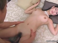 Asian goddess Maria Ozawa sucks cock and gets fucked hard!