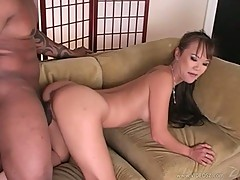 Filthy Mia Smiles gets fucked doggy style before getting a face full of cum