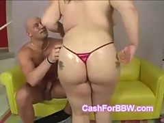 Horny Asian BBW fucks muscular personal trainer