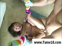 Wild Asian Teen Is Chained Up And Banged Hard On The Floor