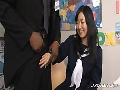 Asian Teen Taking Black Penis