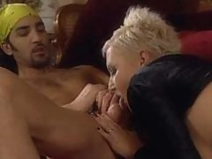 Hardcore shorthaired blondie gets it in her tight ass