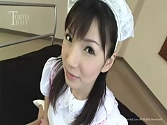Horny japanese maid