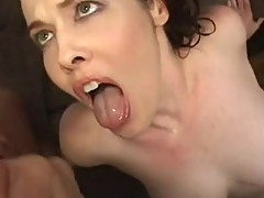 Older fuckslut Mae Victoria rubs clitorisoris as muff gets plowed with cock then facial