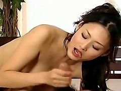 Hot Asian College Cutey Pie Sucks On Janitor Cock.