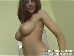 A perfect natural boobs girl fucked in POV