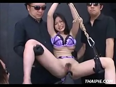 Strapped And Dominated Asian