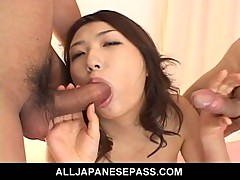 Hatsumi Kudo speared in both holes