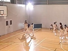 Naked amateur asian schoolgirls playing basketball