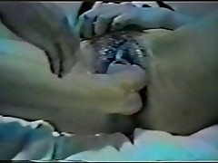 KIMIKO Asian double pussy fisting and giant dildo!